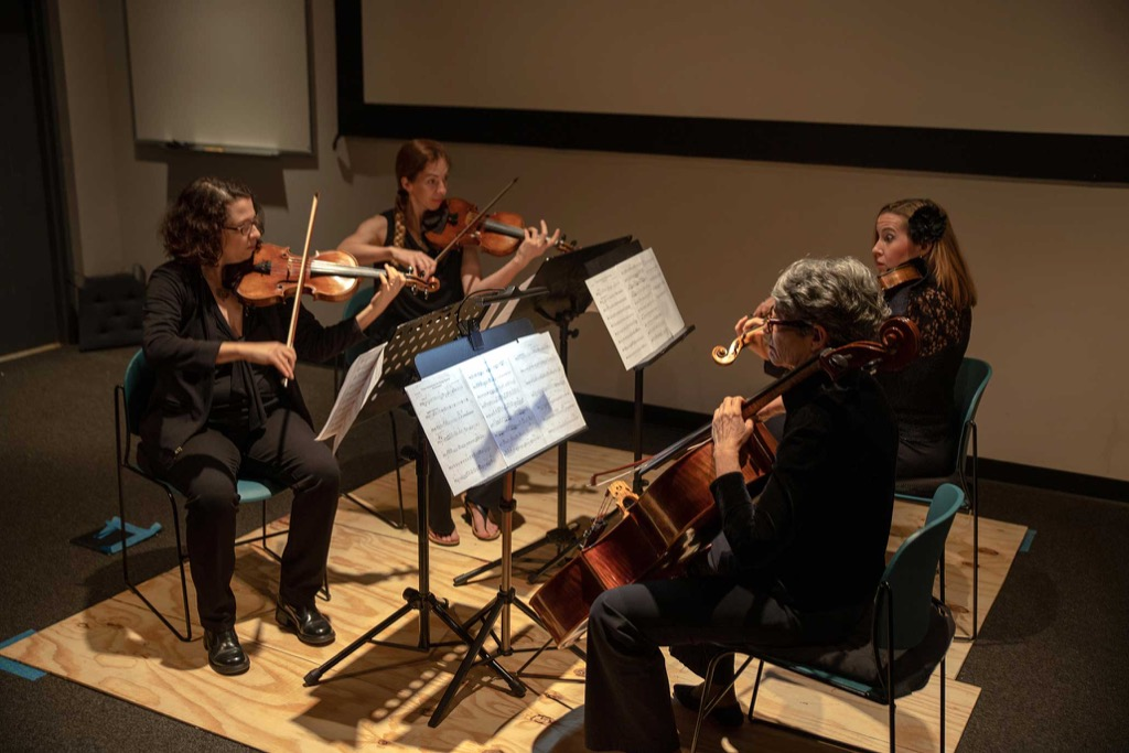 Florida Orchestra members play their violins