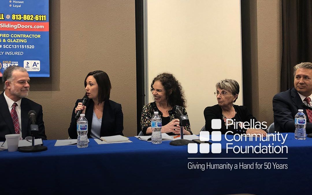 A panel discusses the results of a survey of older adults