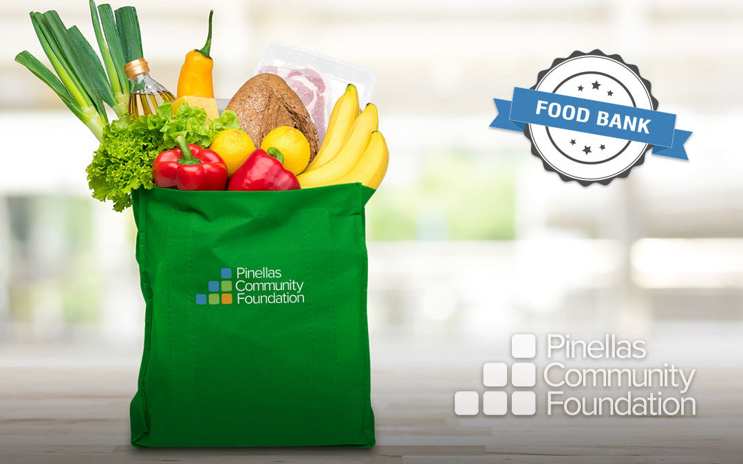 Bag full of groceries available to federal workers due to emergency food relief funds from PCF.