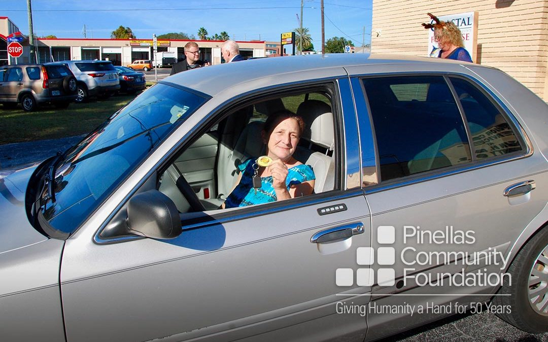 Grant recipient gains stability and reliable transportation from a refurbished car provided by Wheels of Success.